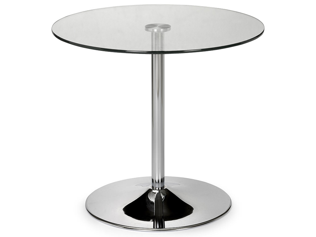 Chrome glass round dining table ebay for Round glass and chrome dining table