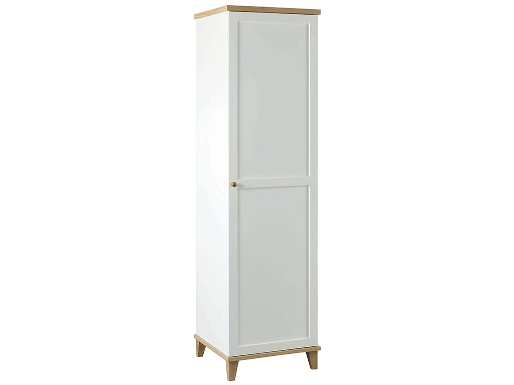 White real ash veneer 1 door hanging shelving wardrobe for 1 door wardrobe with shelves