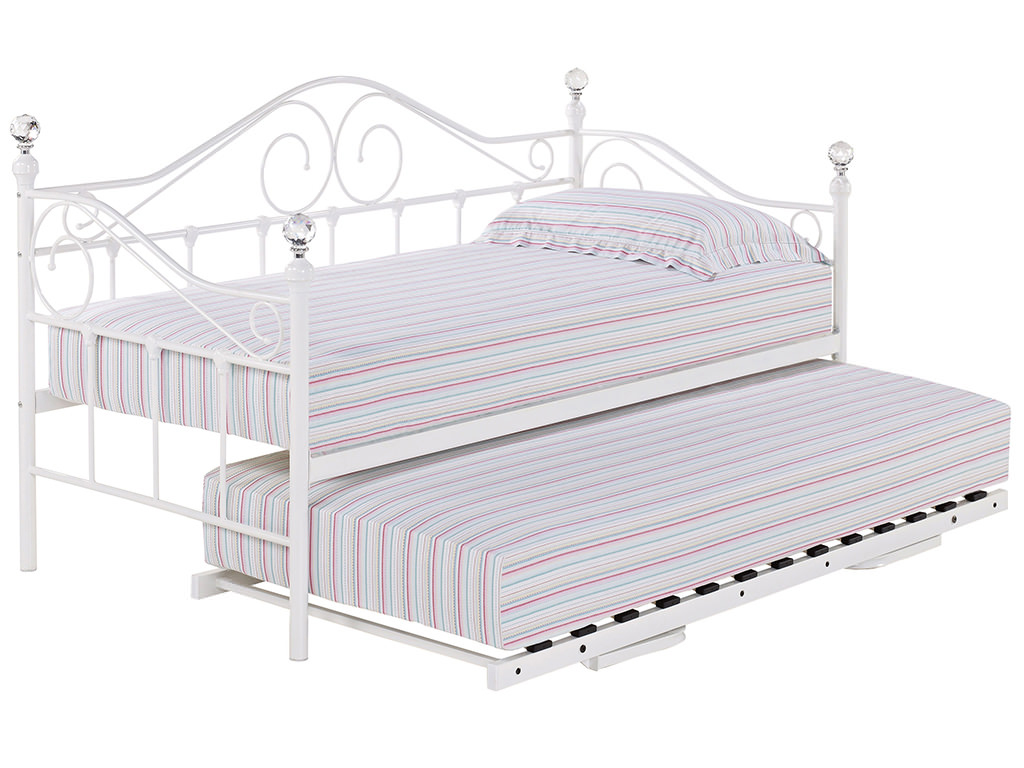 trundle bed frame details about metal day bed daybed frame and trundle guest underbed