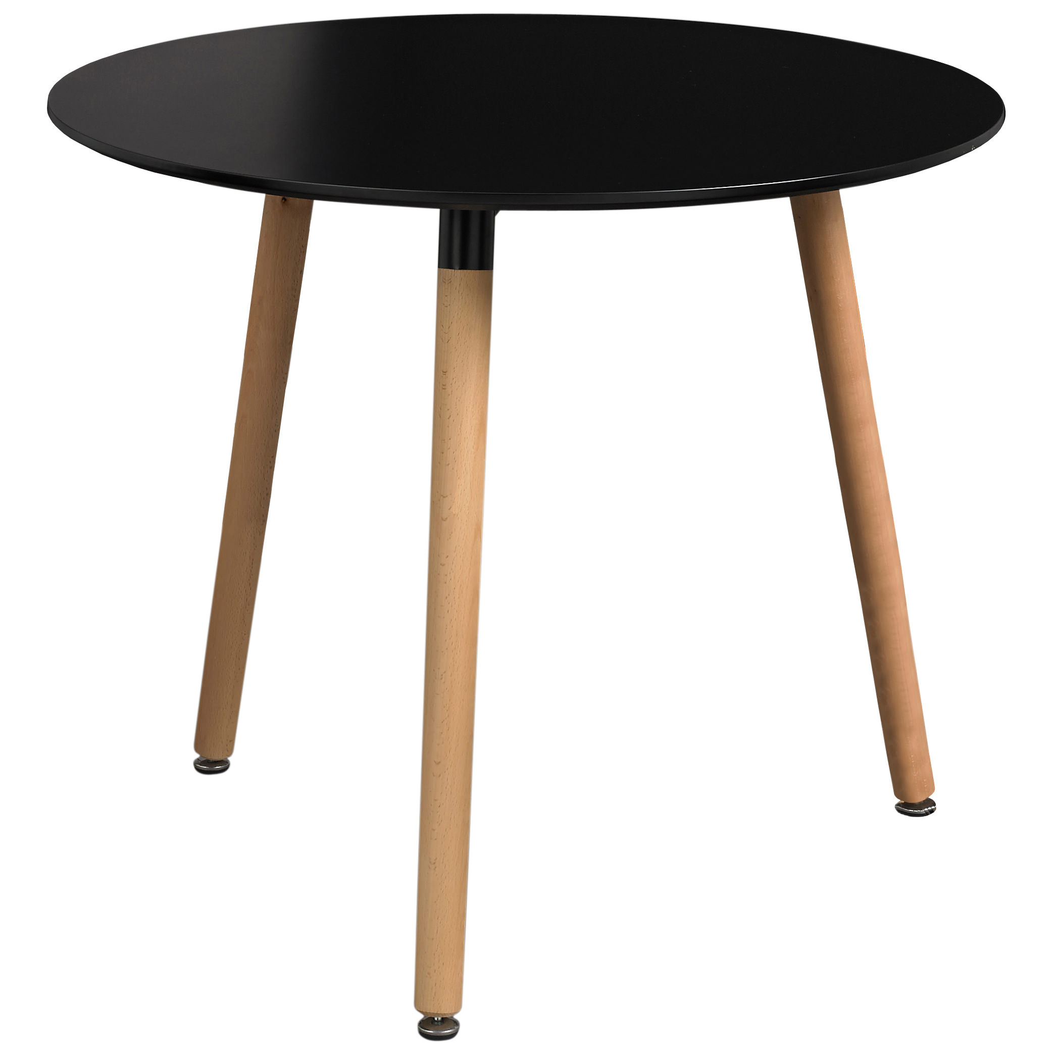 Painted finish round dining table black white ebay for Black dining table