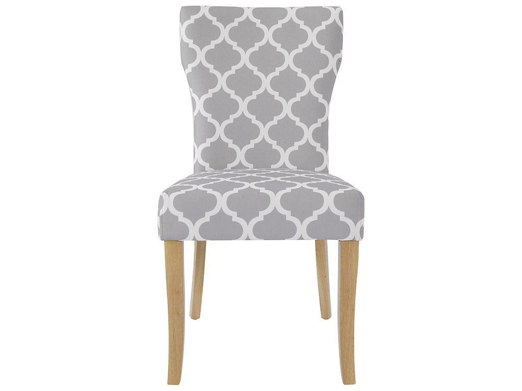 pack of 2 grey white fabric dining seat chair ebay