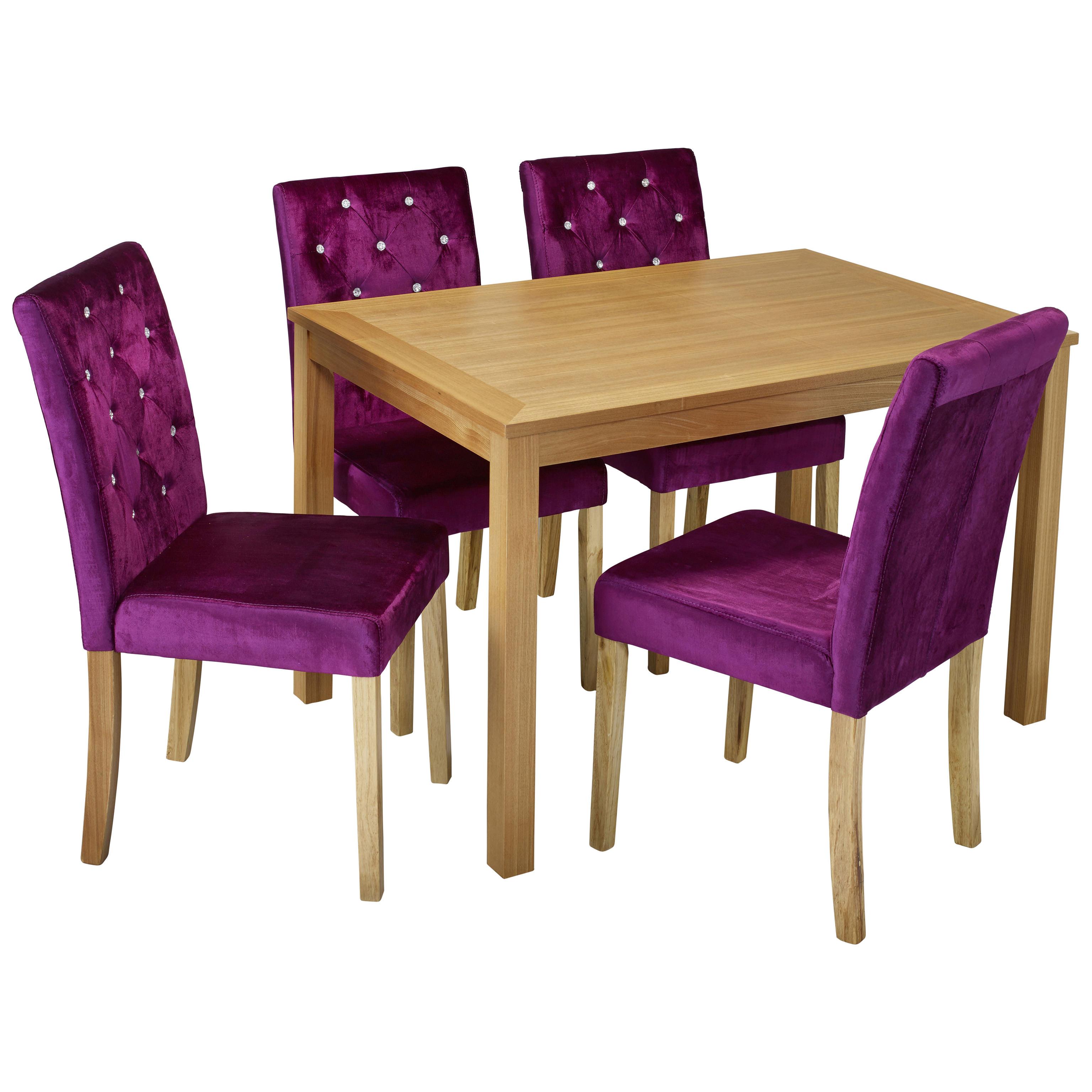 Purple Desk And Chair Set Furniture Modern Children Desk