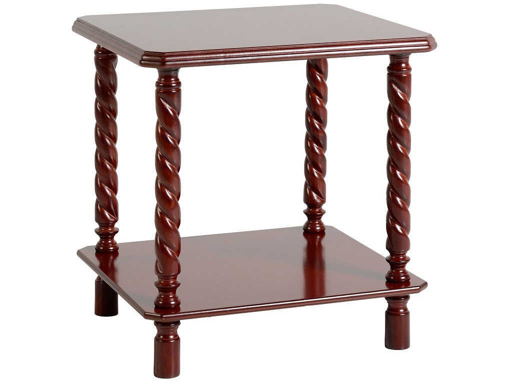 Mahogany Finish End Lamp Small Side Coffee Table