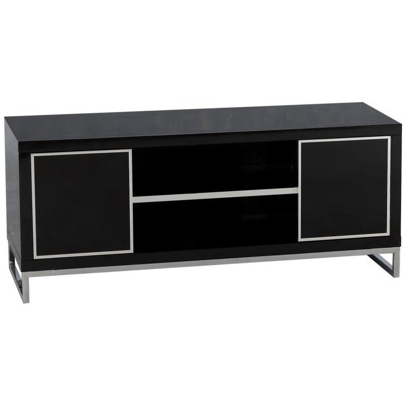 High gloss chrome plasma lcd tv table stand cabinet for White plasma tv stands