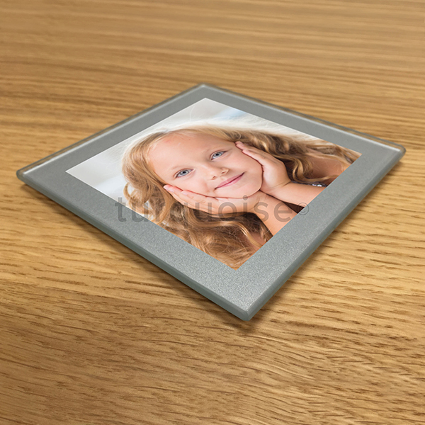 personalised custom photo glass coasters drink mats gift. Black Bedroom Furniture Sets. Home Design Ideas