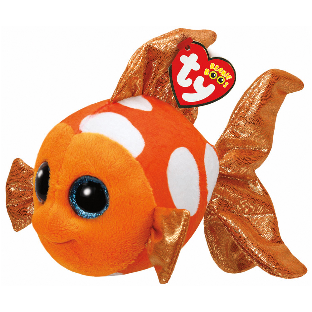 ty beanie boo plush sami the orange fish 15cm ebay