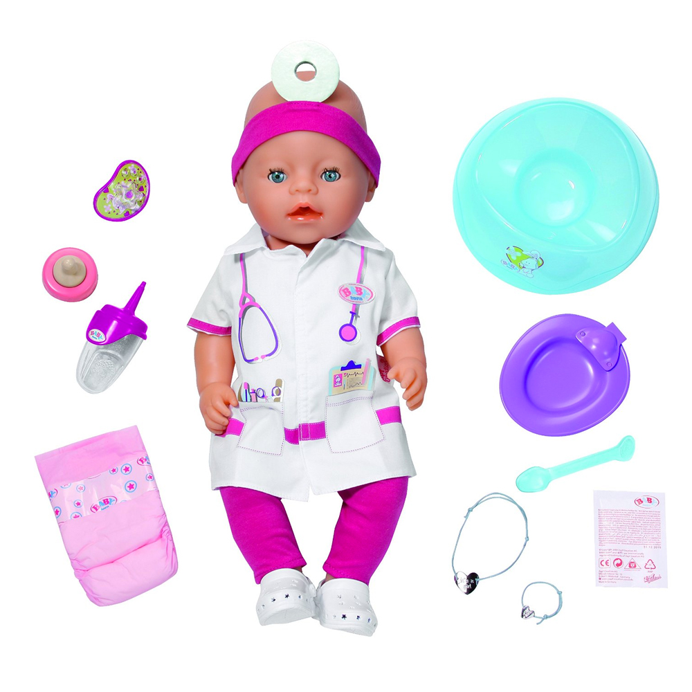 baby born doctor interactive doll ebay. Black Bedroom Furniture Sets. Home Design Ideas