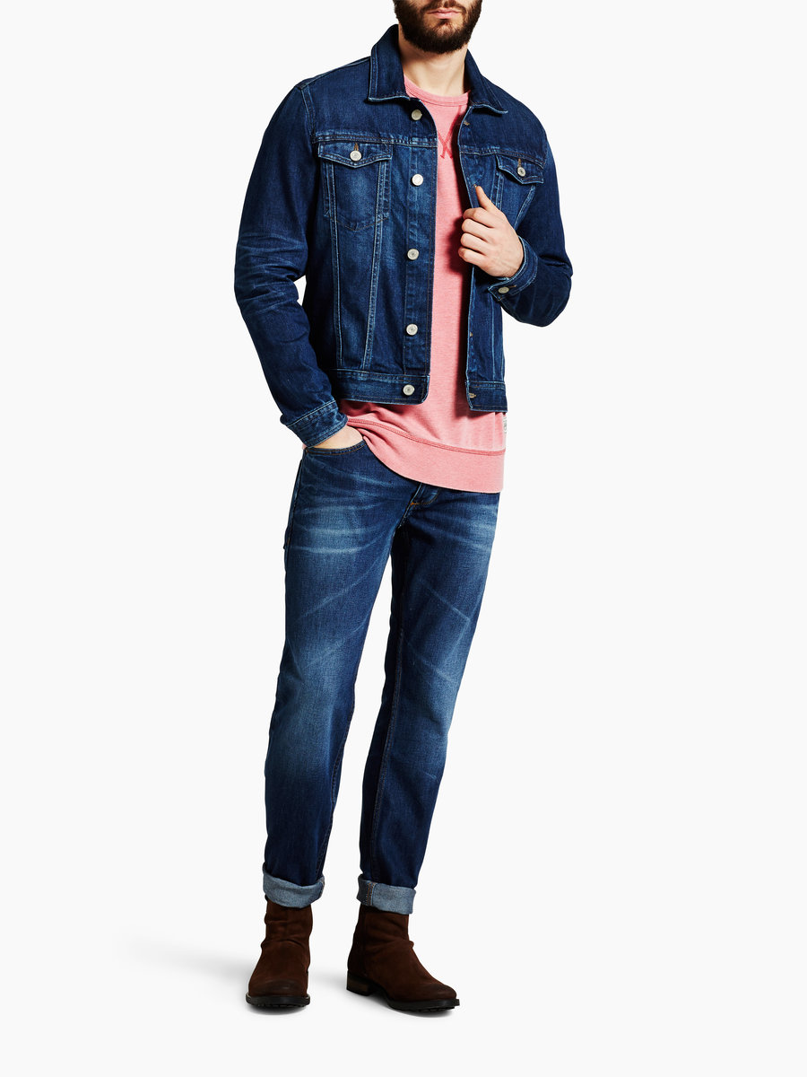 jack and jones jean jacket sc 230 jacket medium blue denim. Black Bedroom Furniture Sets. Home Design Ideas
