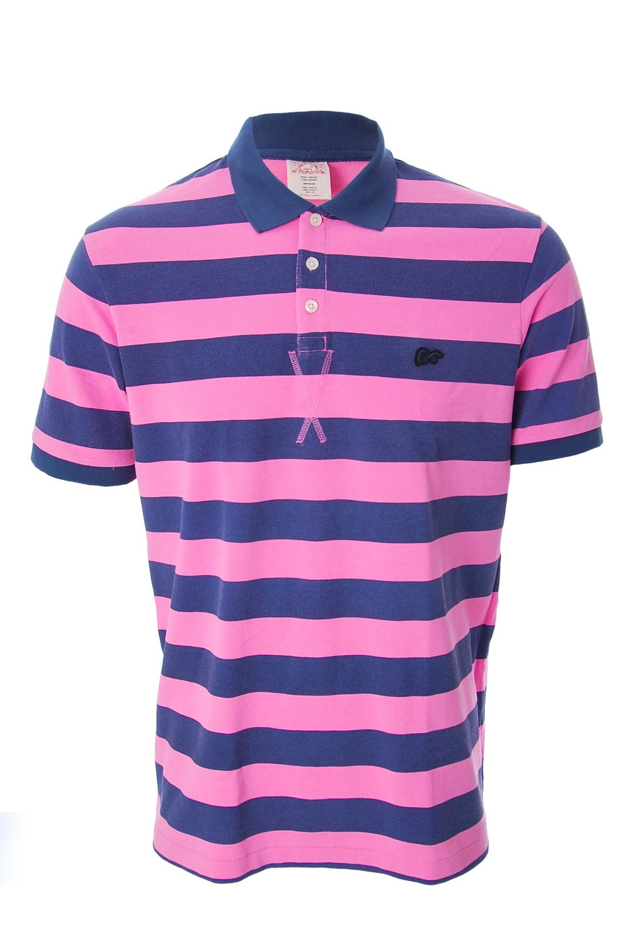 evisu striped pique polo shirt pink blue stripe ebay