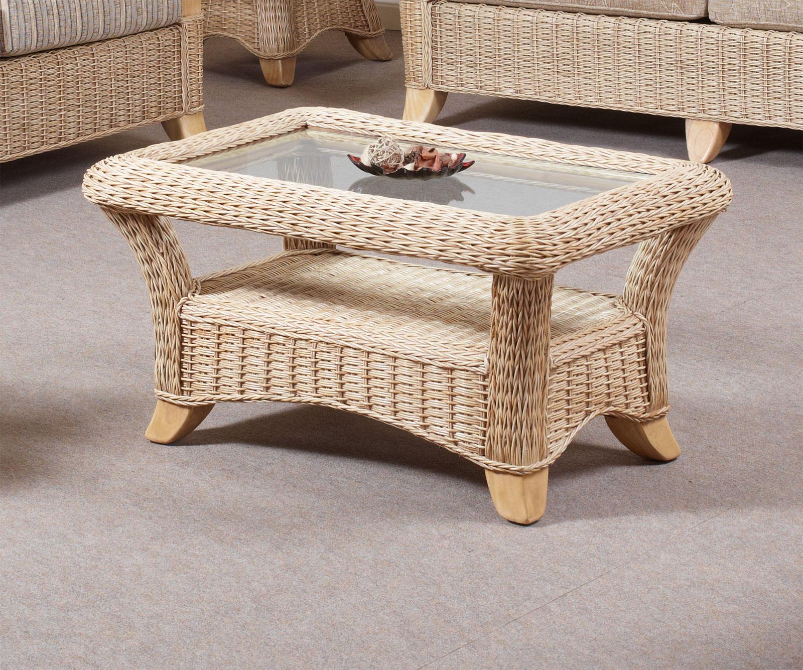 Hilton Conservatory Cane Furniture Wicker Coffee Table 91cm X 61cm X 48cm Ebay
