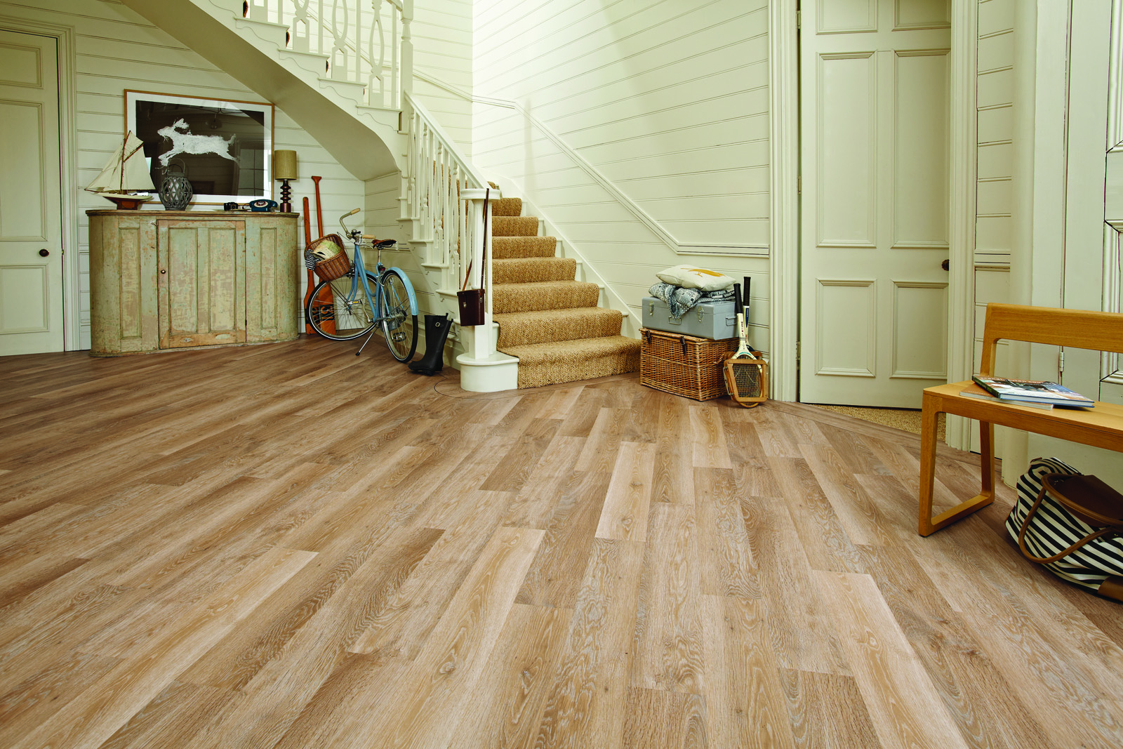 Walnut tile flooring