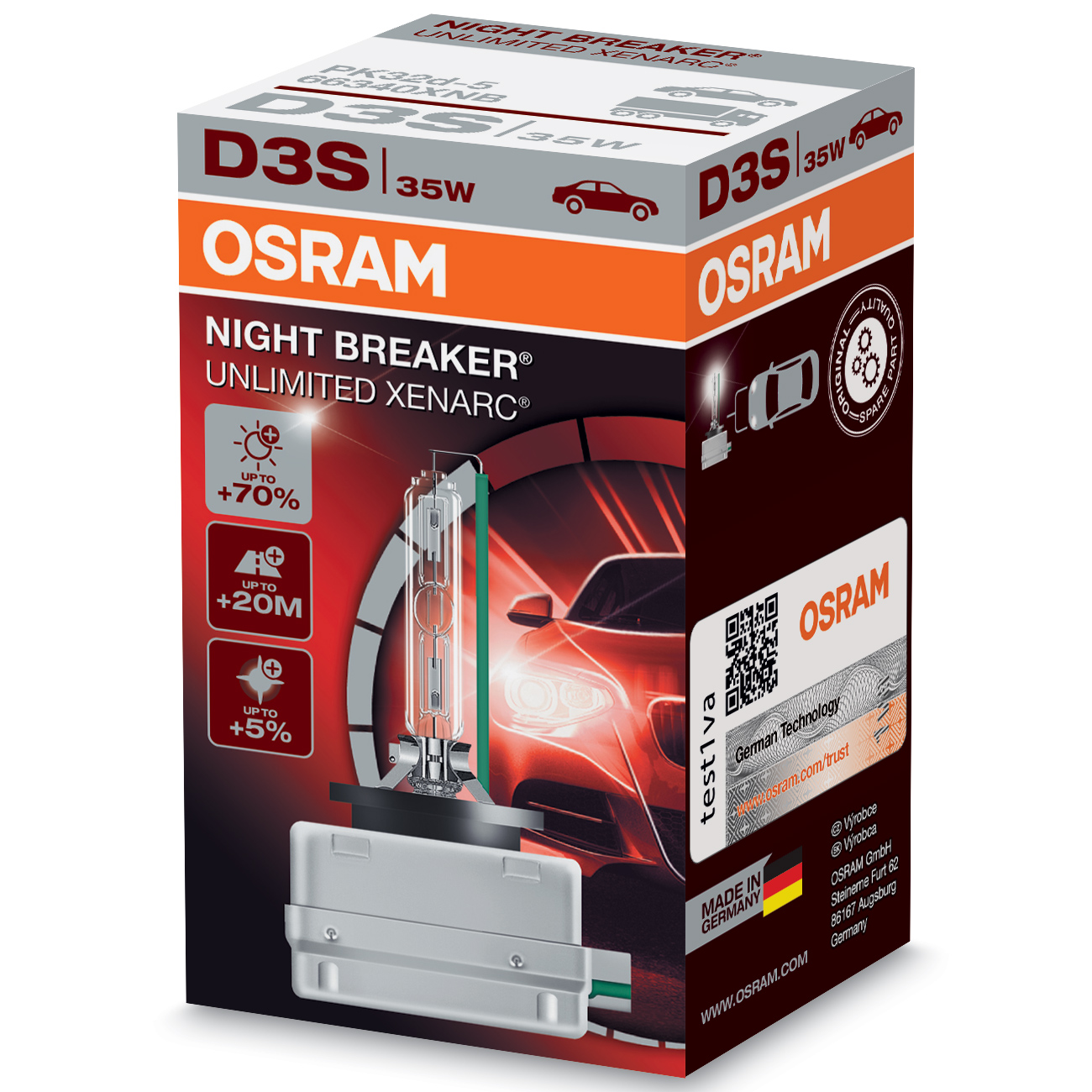osram xenarc night breaker unlimited 70 light d3s xenon. Black Bedroom Furniture Sets. Home Design Ideas