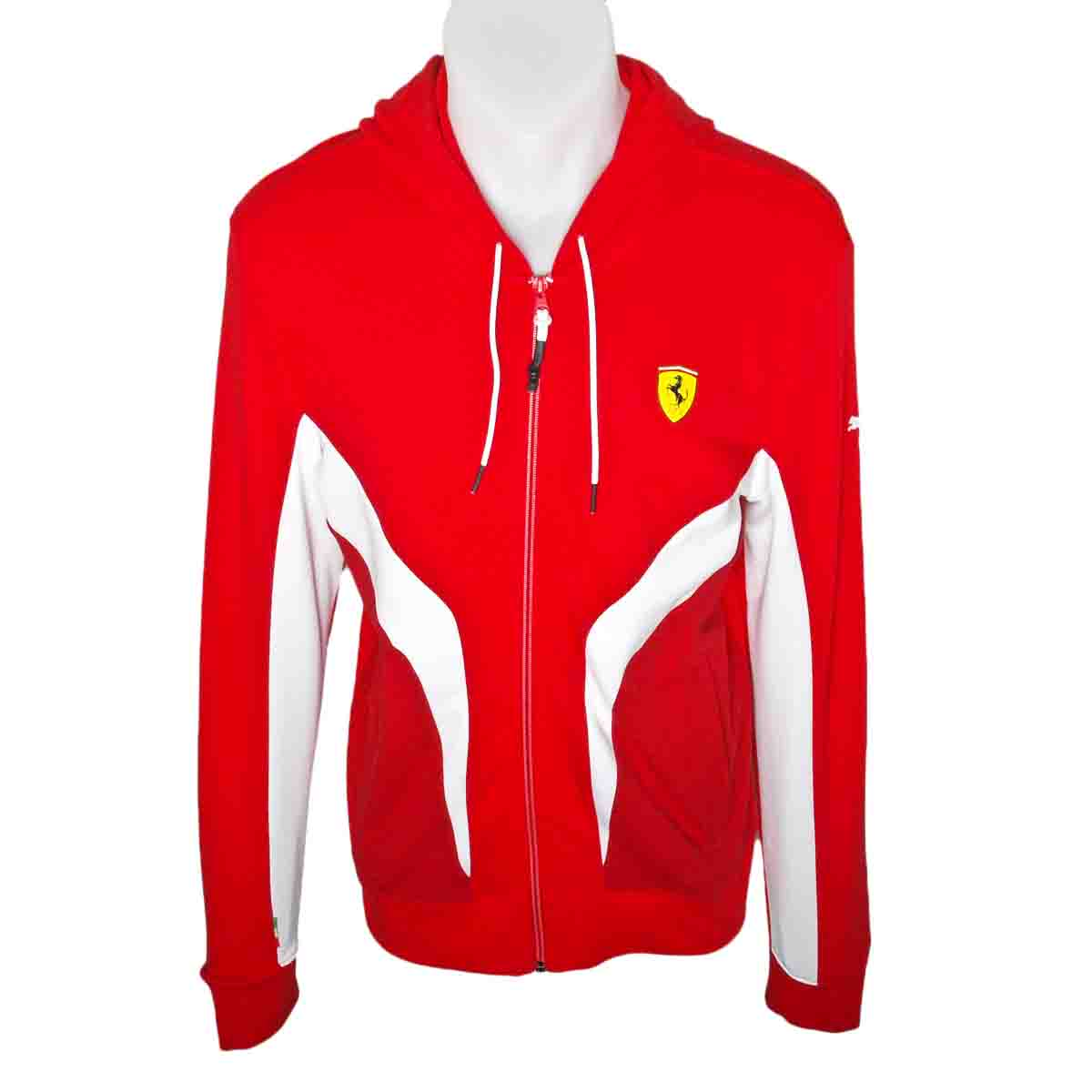 Puma Ferrari Mens Hooded Sweat Jacket Size Uk S Xl Ebay