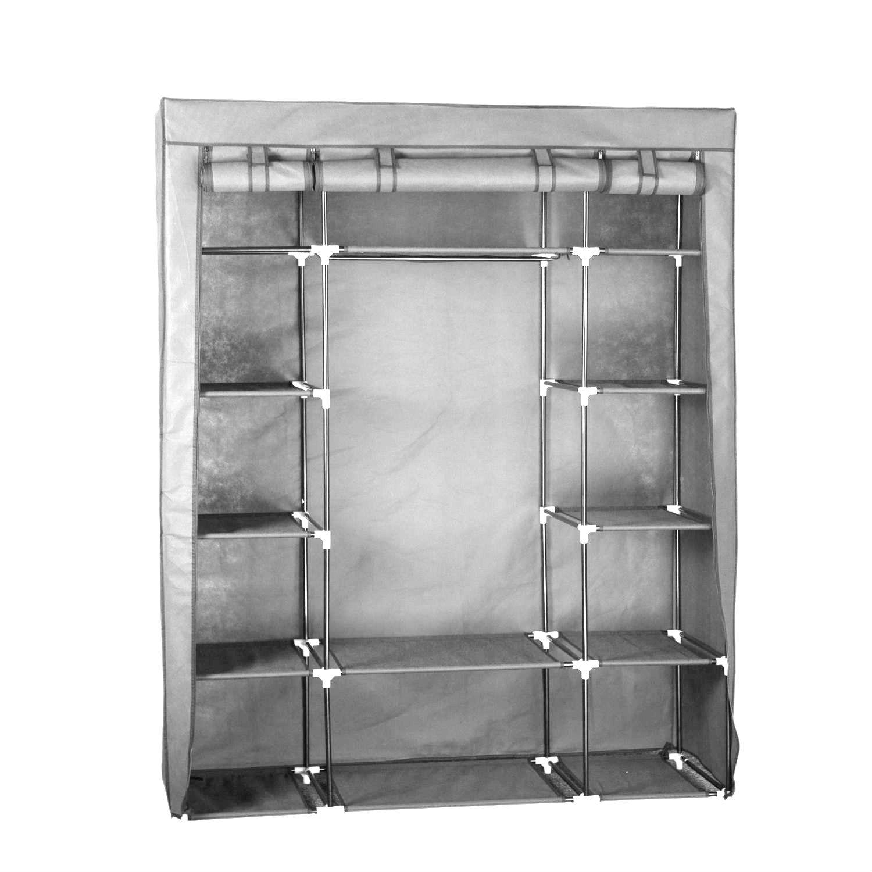 Portable Closet Rack : Quot portable closet storage organizer wardrobe clothes