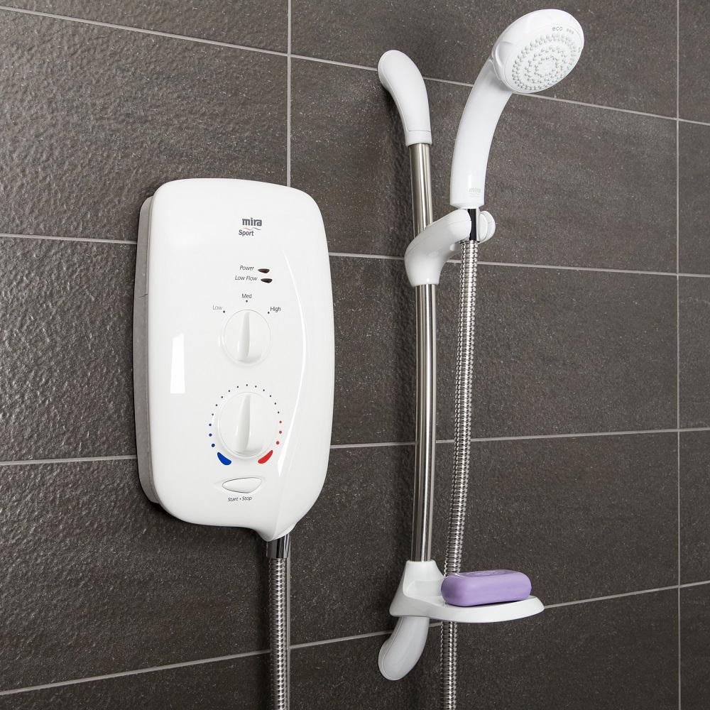 Mira Sport 9 0kw White Amp Chrome Electric Shower Ebay