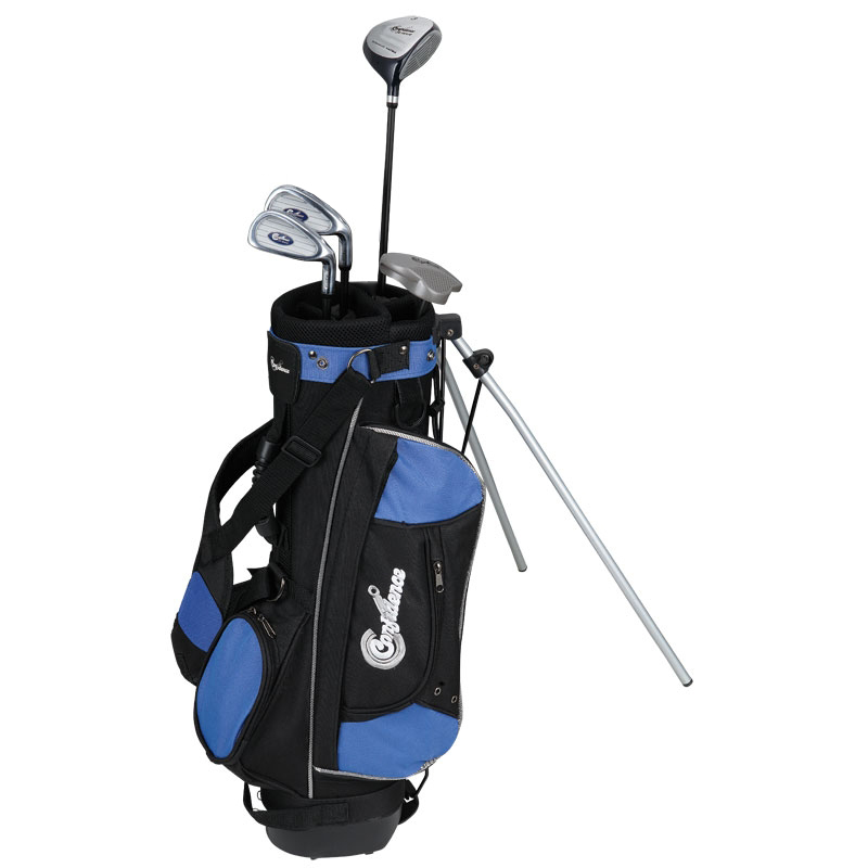CONFIDENCE-CHILDRENS-JUNIOR-GOLF-CLUBS-SET-BAG-8-12-RH