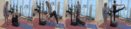 Four exercises from the Vitality 700i instructional DVD