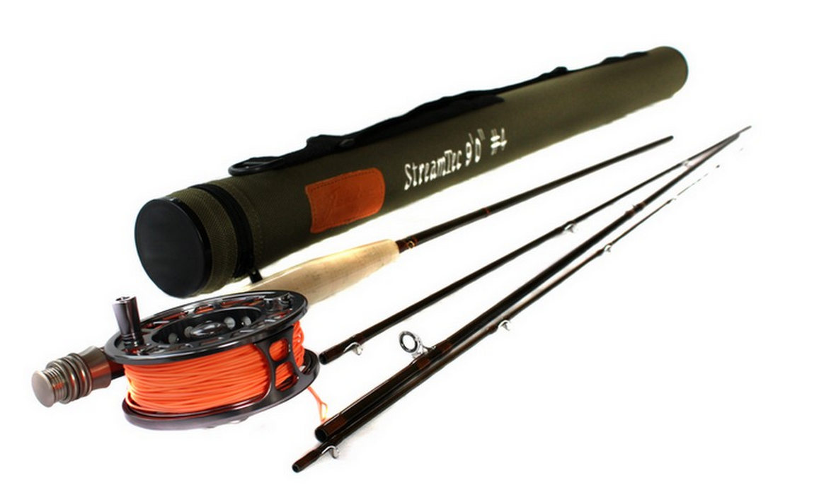Flextec streamtec fly rod and aerotec reel package price for Trout fishing rod and reel