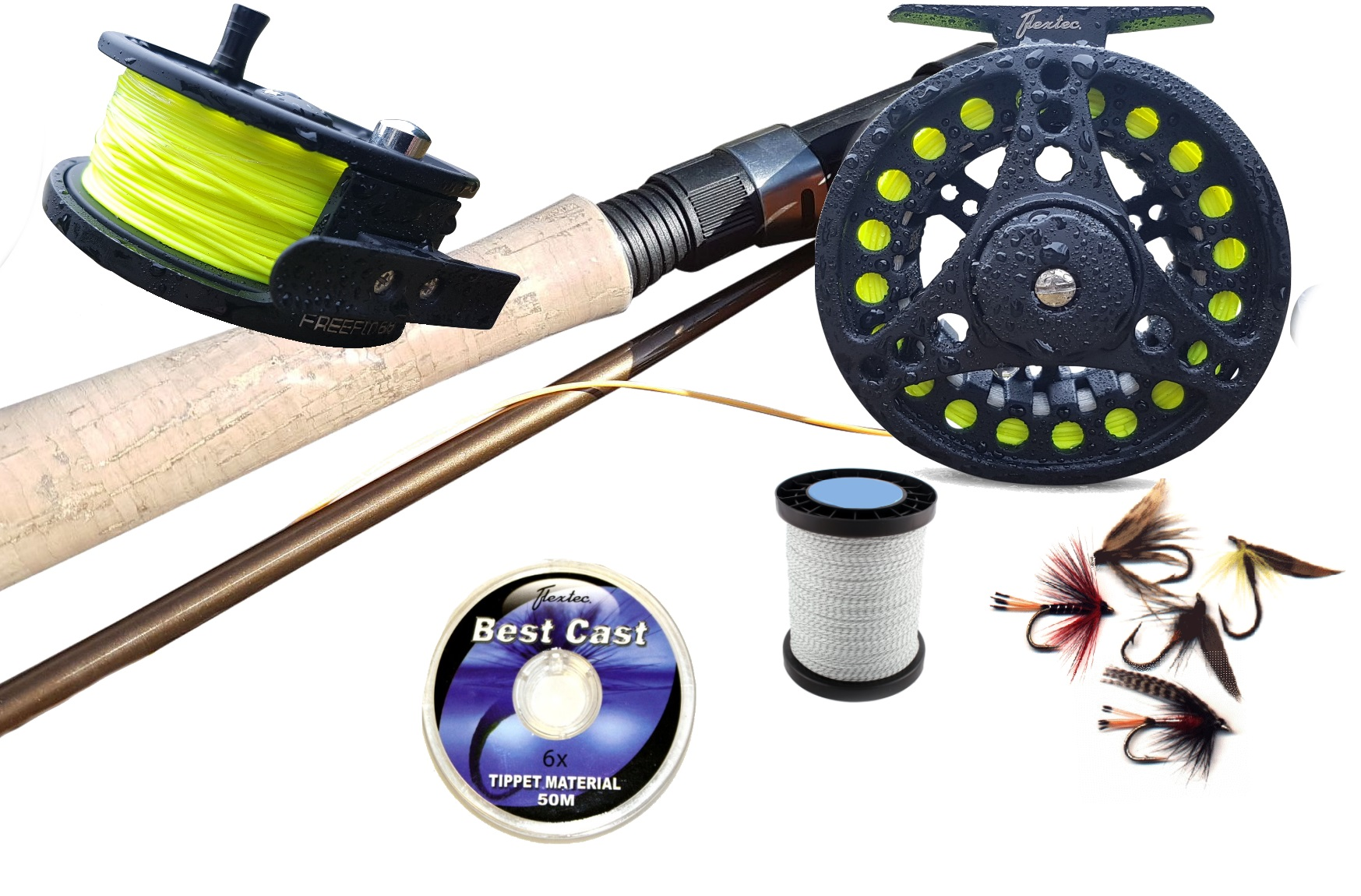 Fly fishing kit rod loaded reel floating line backing for Used fly fishing gear for sale