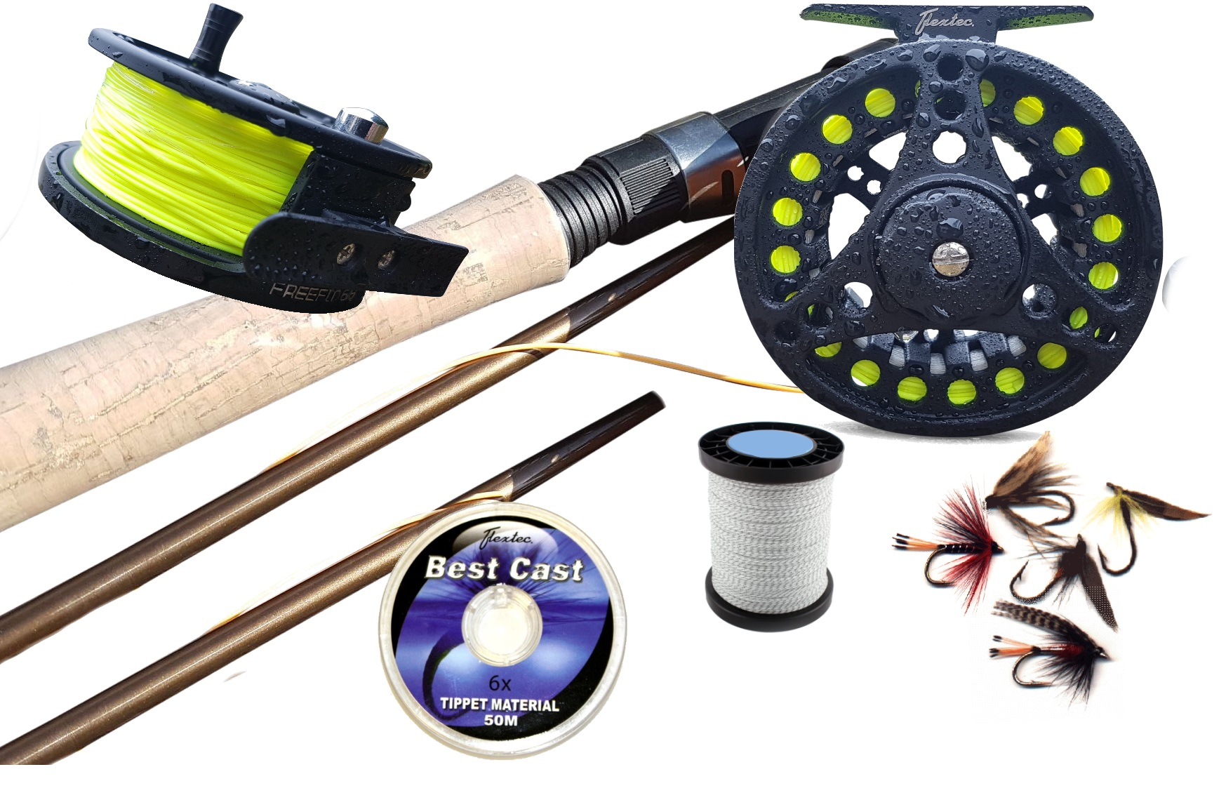 Fly Fishing Kit Rod Loaded Reel Floating Line Backing