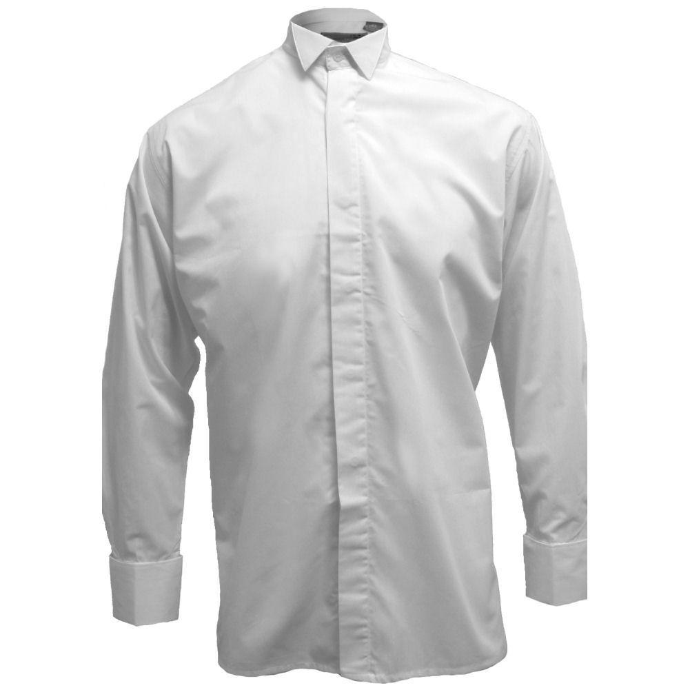 men 39 s white wing collar dress shirt neck sizes 14 20