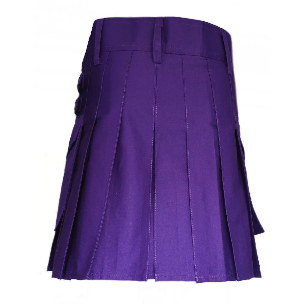 "Tartanista Ladies Cotton Utility 19/"" Length Kilt Skirt"