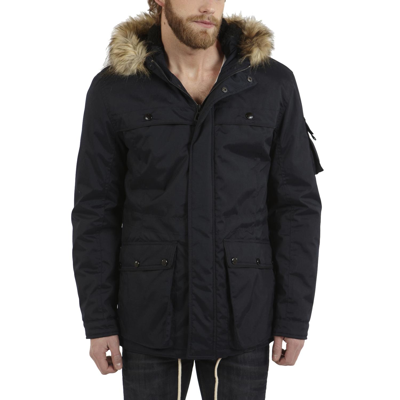 jack jones expo hooded parka with fur trim ebay. Black Bedroom Furniture Sets. Home Design Ideas