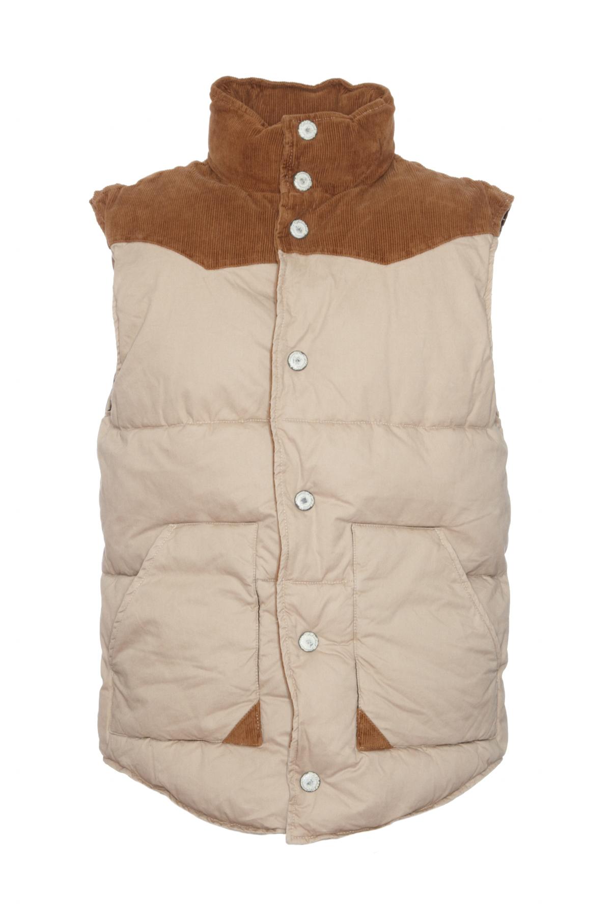 selected mens beige quilted body warmer waistcoat ebay. Black Bedroom Furniture Sets. Home Design Ideas