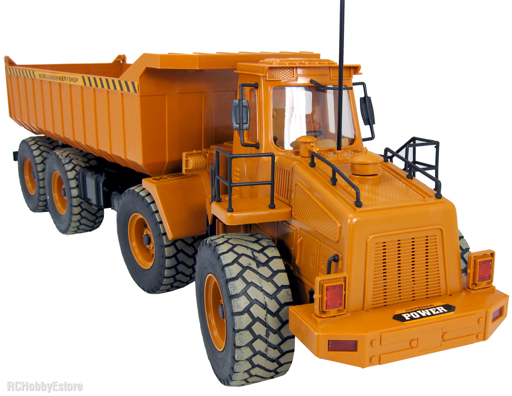 radio controlled caterpillar with Remote Control Dump Trucks on Watch as well Komatsu Launches Second Gen Pc210lci 11 Semi Auto Excavator With Improved Controls furthermore Remote Control Dump Trucks likewise 1 16 John Deere 9630 Big Farm Tractor W Blade Lights Sounds moreover Watch.