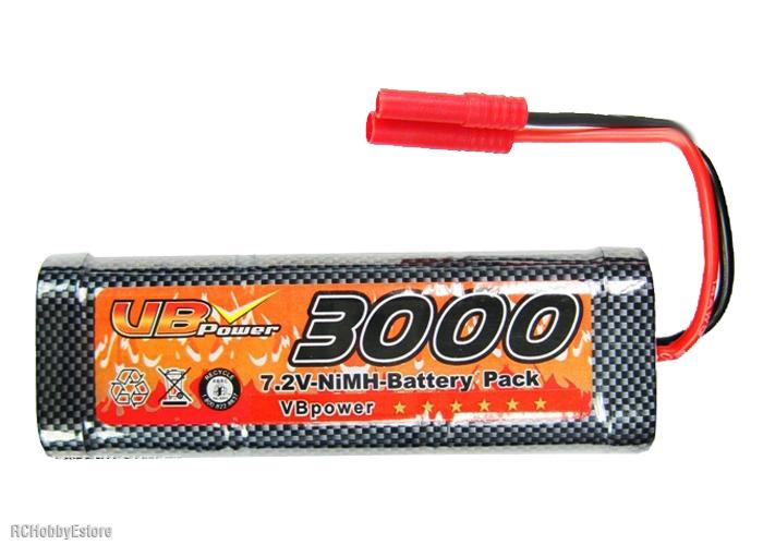 7 2 volt battery pack 3000mah vs 2000mah