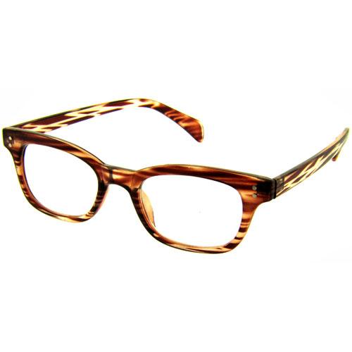 reading glasses mens designer brown clear stripe
