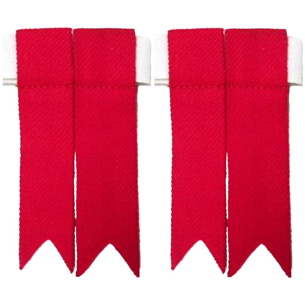 Kilt-Strumpfbaender-Rot-Hergestellt-in-Schottland