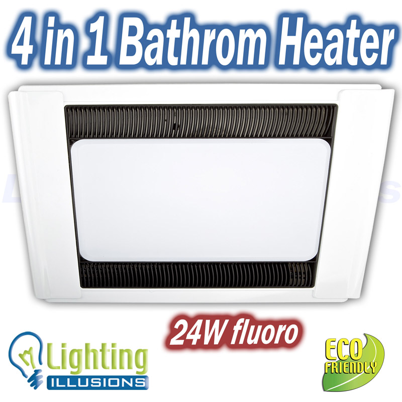 Combination Exhaust Fan and Heater with Light, Bathroom Heater