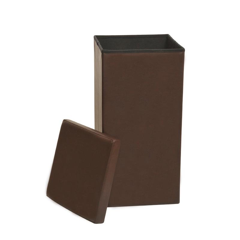 linen bin large faux leather folding laundry bin basket storage box 88 litre