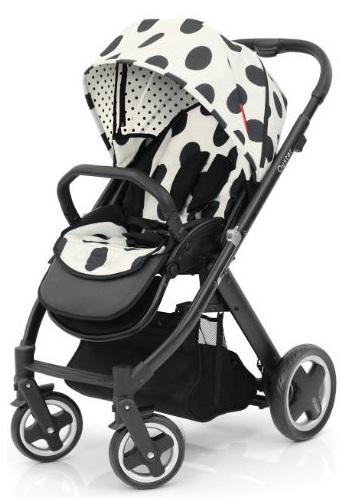 Babystyle Oyster Pushchair Satin Black Vogue Dalmatian