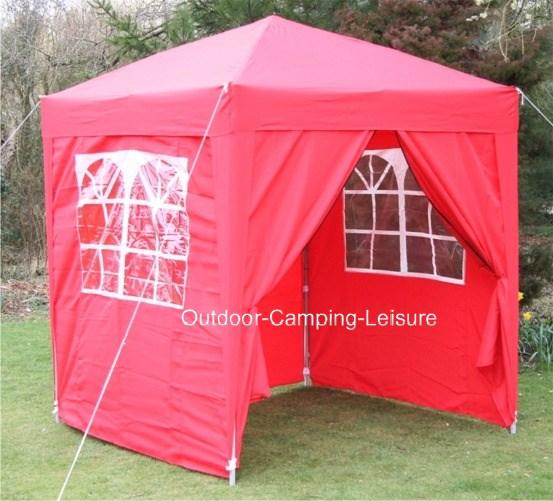 pavillon 2 x 2 meter wasserfest gartenzelt partyzelt rot seitenteile ebay. Black Bedroom Furniture Sets. Home Design Ideas