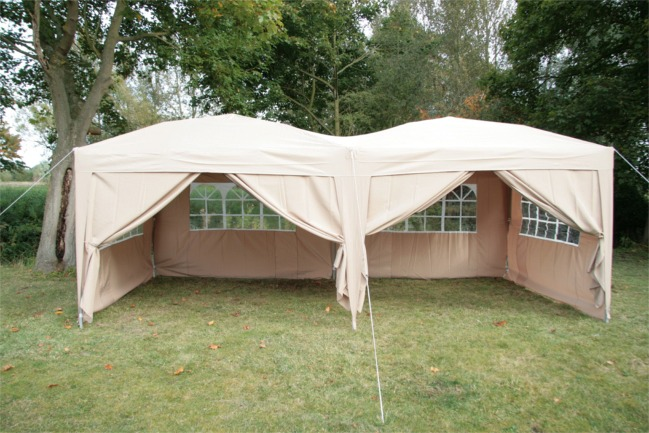 AirWave 6x3mtr FULLY WATERPROOF Pop Up Gazebo with Sides and Bag  eBay