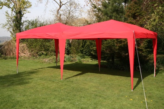 gartenlaube airwave 6x3m rot pop up wasserdicht seiten w nde gartenpavillion ebay. Black Bedroom Furniture Sets. Home Design Ideas