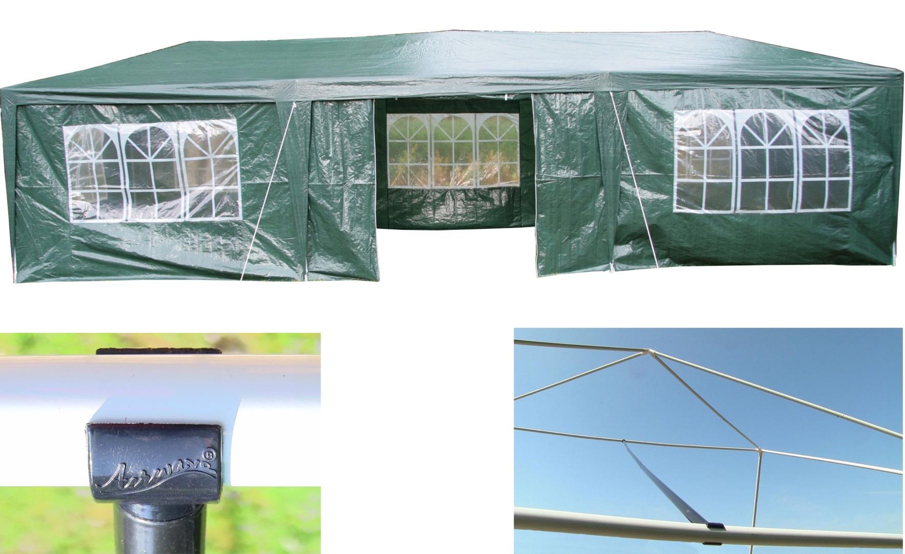 AirWave-9m-x-3m-Party-Tent-Marquee-Gazebo-3-FREE-WINDBARS-Waterproof-8-Sides