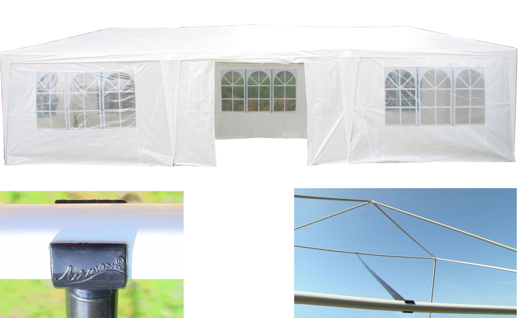 AirWave 9m x 3m Party Tent Marquee Gazebo 3 FREE WINDBARS