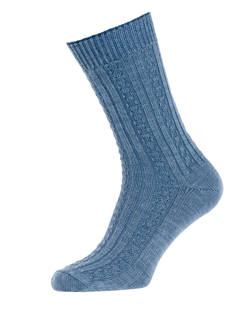 Knitting Pattern For Plain Socks : 2PK HJ Hall Quality Cable Knit Short WOOL Plain No Pattern ...