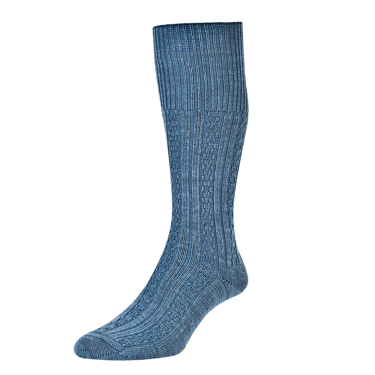 Knitting Pattern For Plain Socks : HJ Hall Cable Knit Long WOOL Plain No Pattern Everyday ...