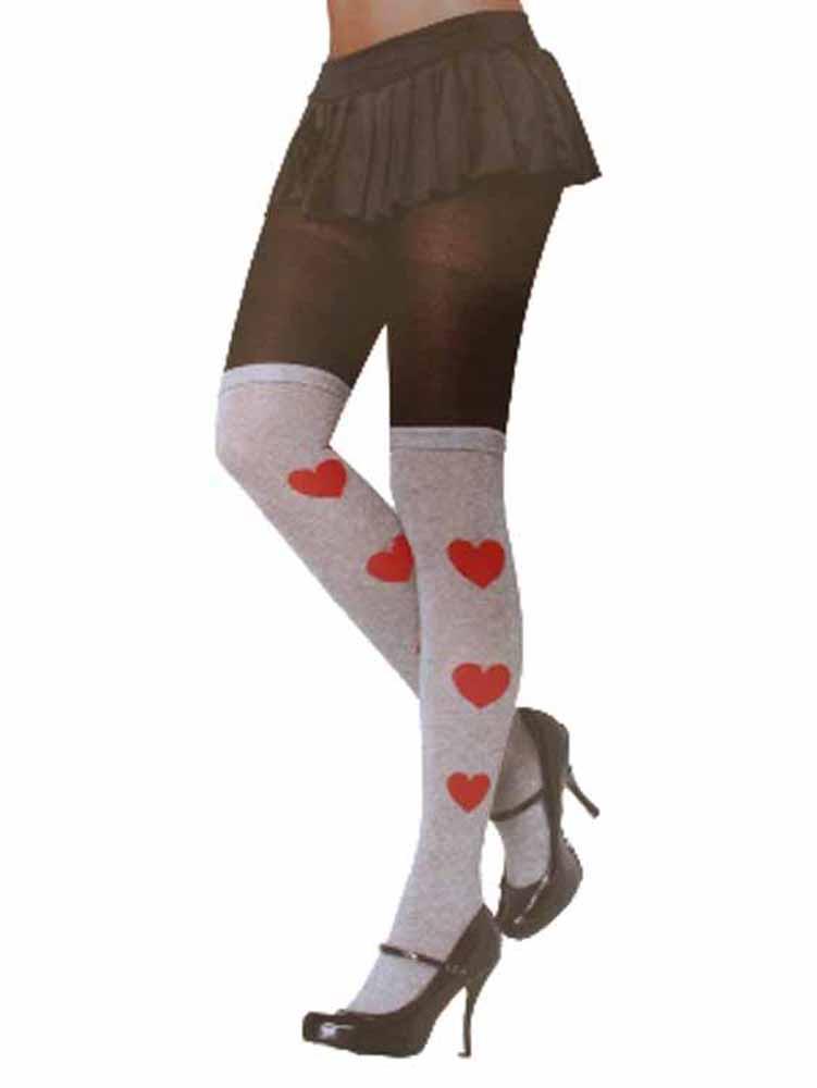 ladies pantyhose tights over knee sock design os black grey ebay. Black Bedroom Furniture Sets. Home Design Ideas