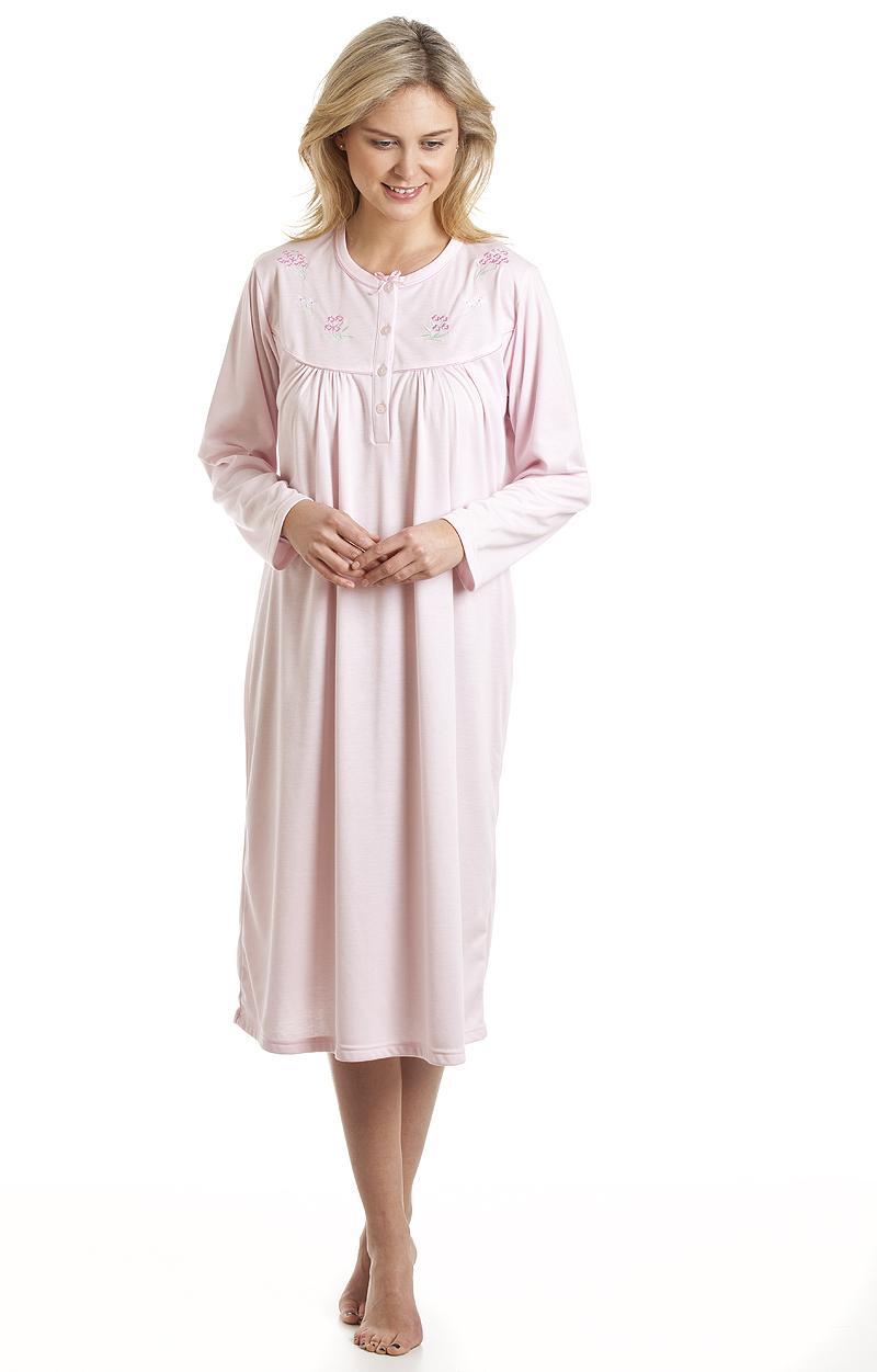 Ladies la marquise classic cuddleknit long button front