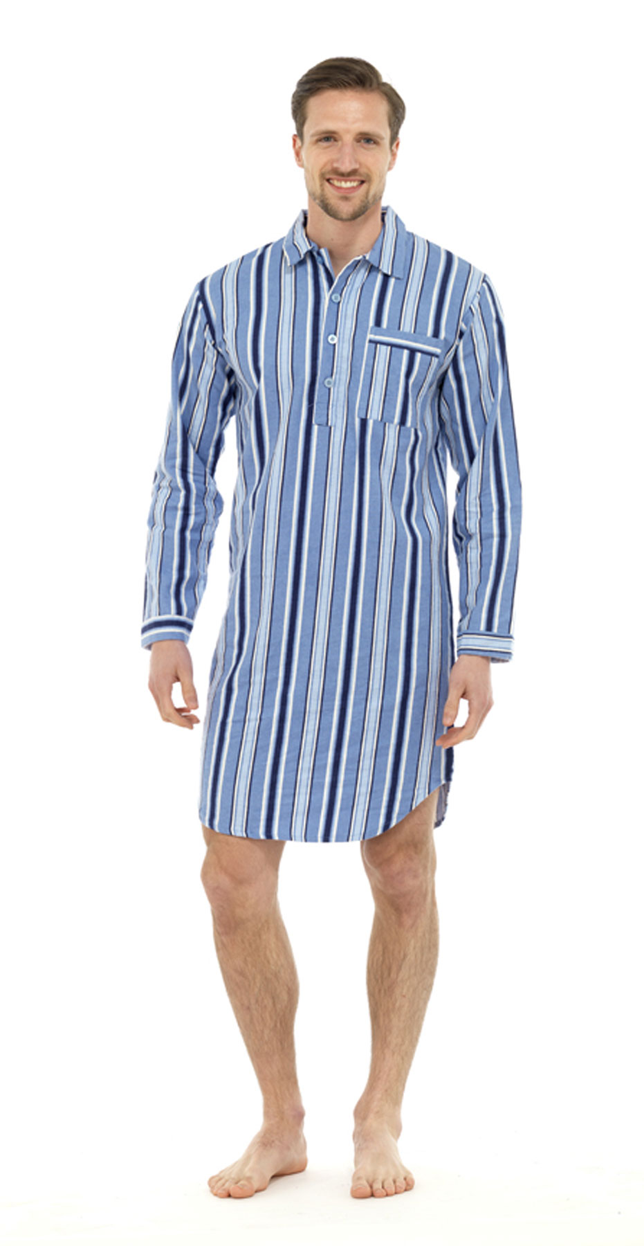New Mens Champion Haigman Cotton Nightshirt Sleepwear ...