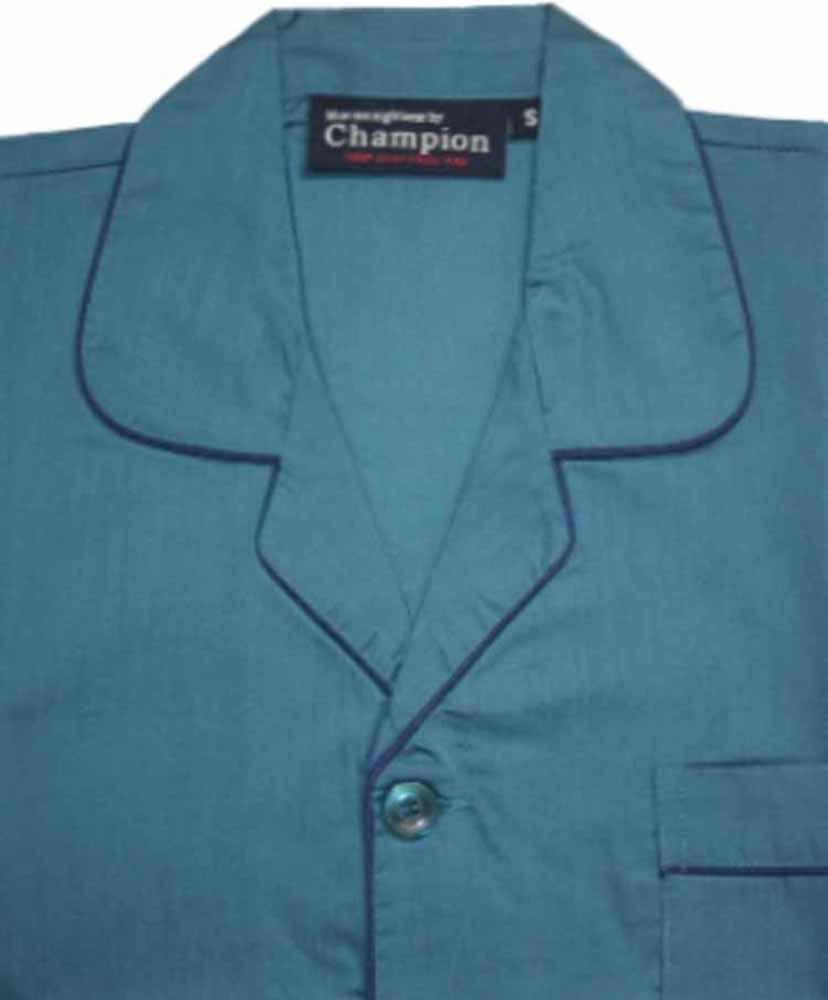 CHAMPION Da Uomo Misto Cotone Bottoni Pigiama Lounge Wear