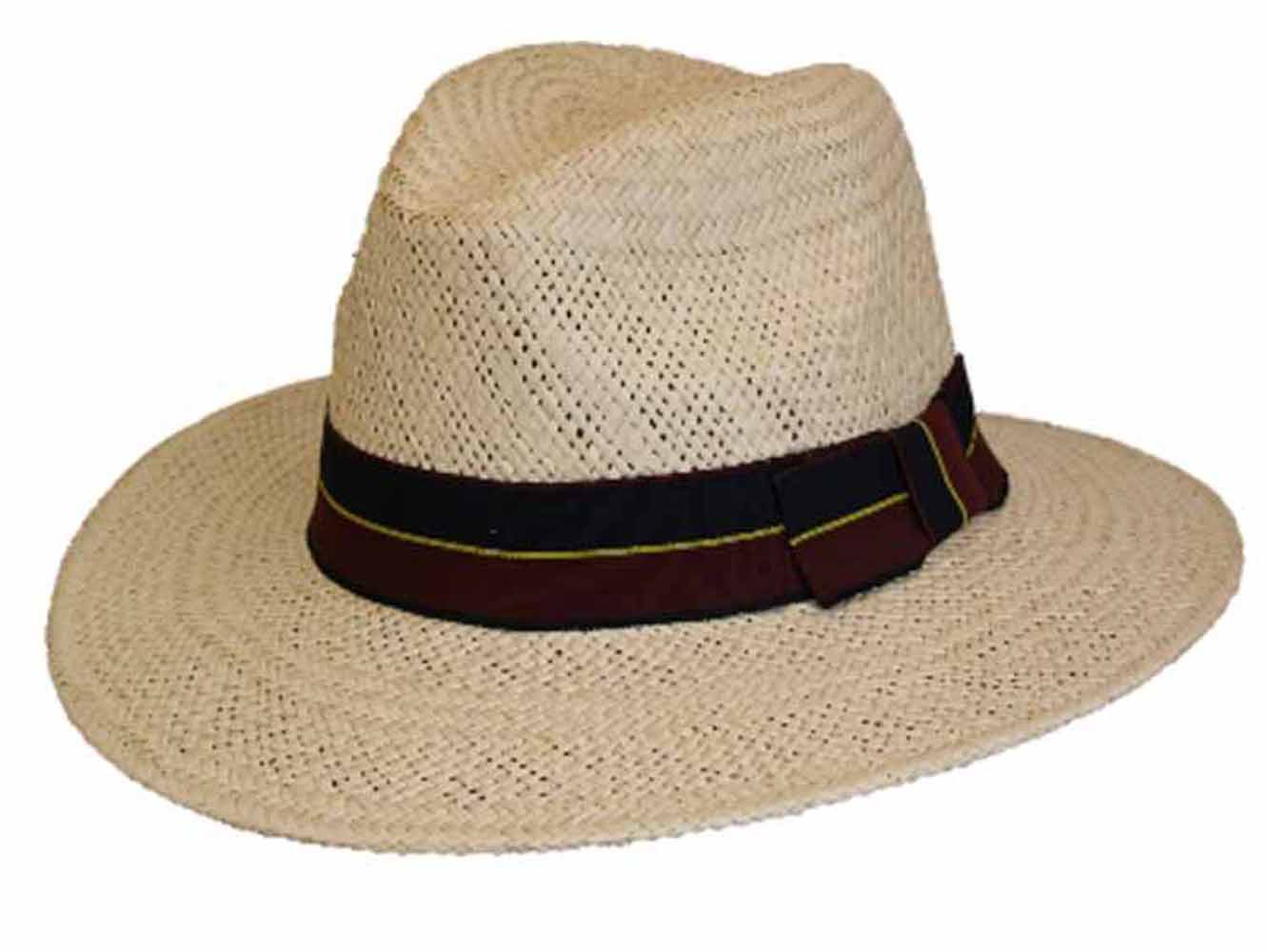 Mens Best Quality Classic Straw Trilby Fedora Style Summer ...