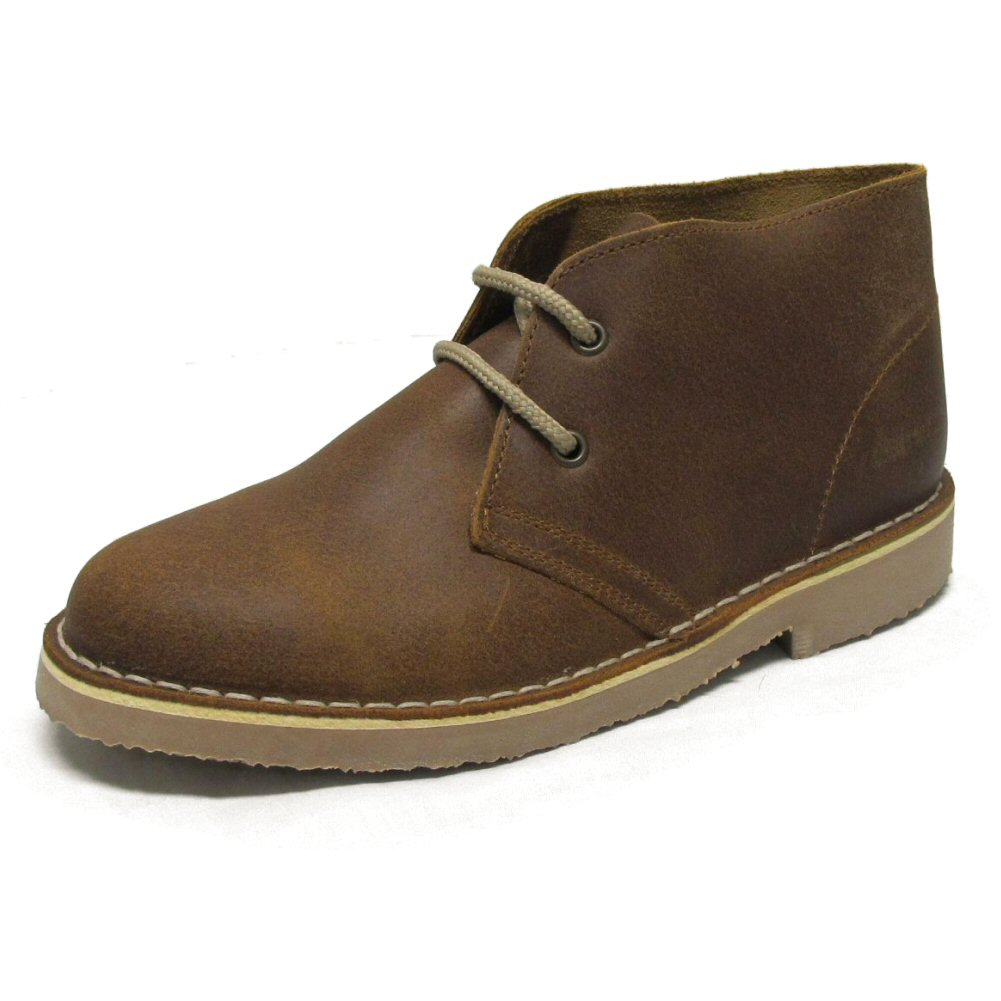 mens roamers brown distressed leather welted desert boots
