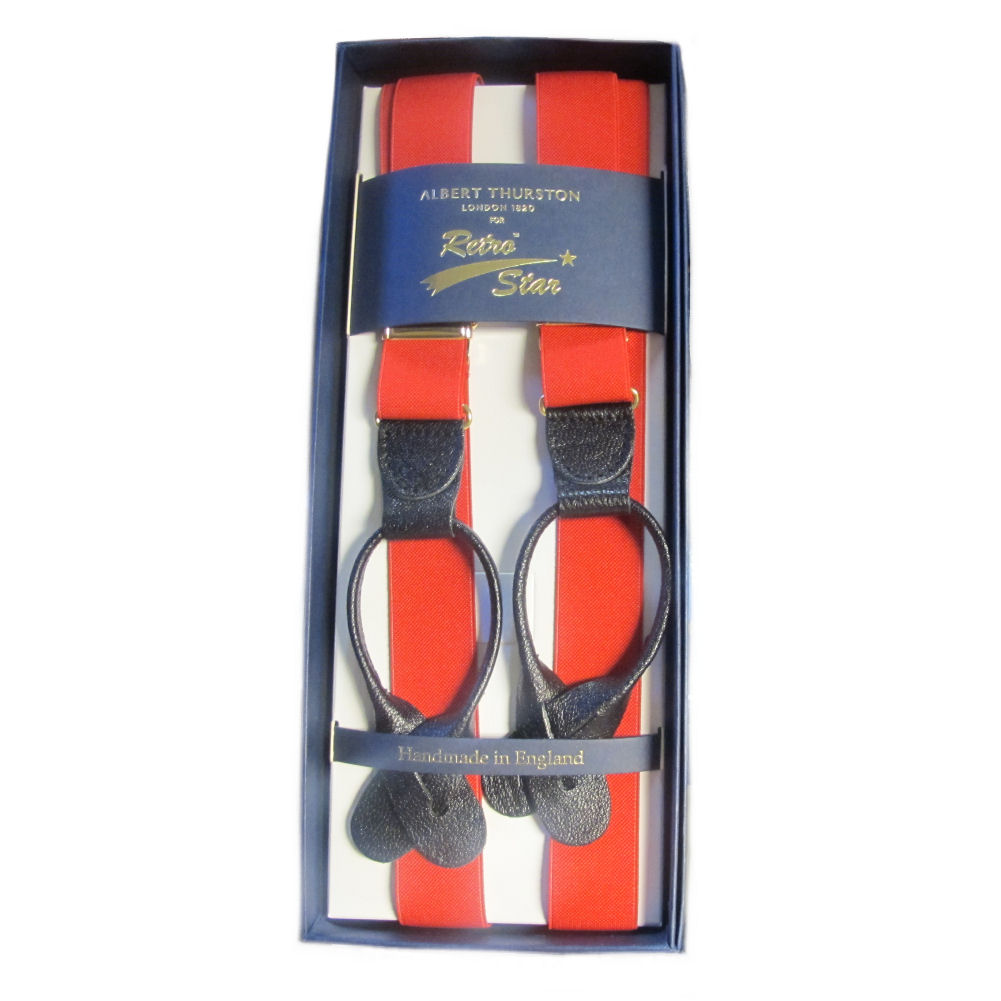Made in England Albert Thurston Classic Button Braces 25mm Wide
