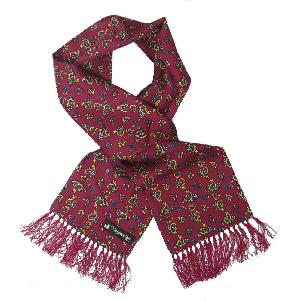 silk paisley scarf by knightsbridge 60s mod dandy dress